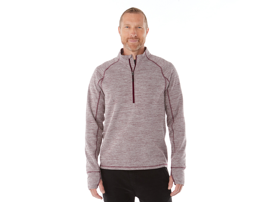 ... performance. The Crane features on-trend heathered colors and a dropped  back hem for retail style. The moisture-wicking fabric provides all-day  comfort d0d2e8e3d