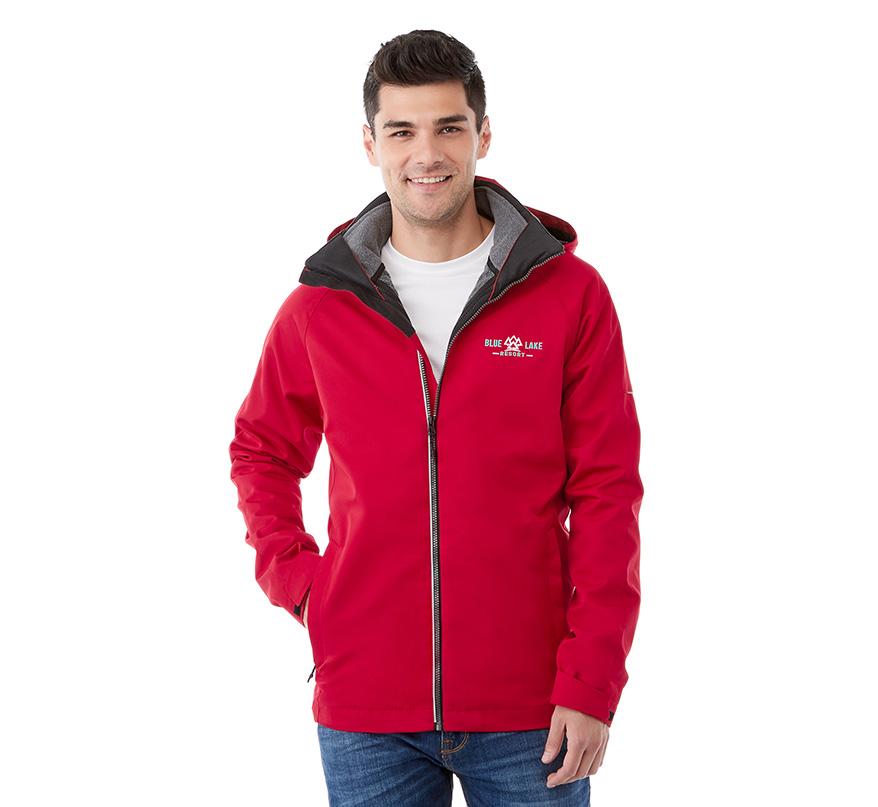 Us Basic Mens 3 in 1 Waterproof Jacket in with Contrast Inside Fleece Antipill